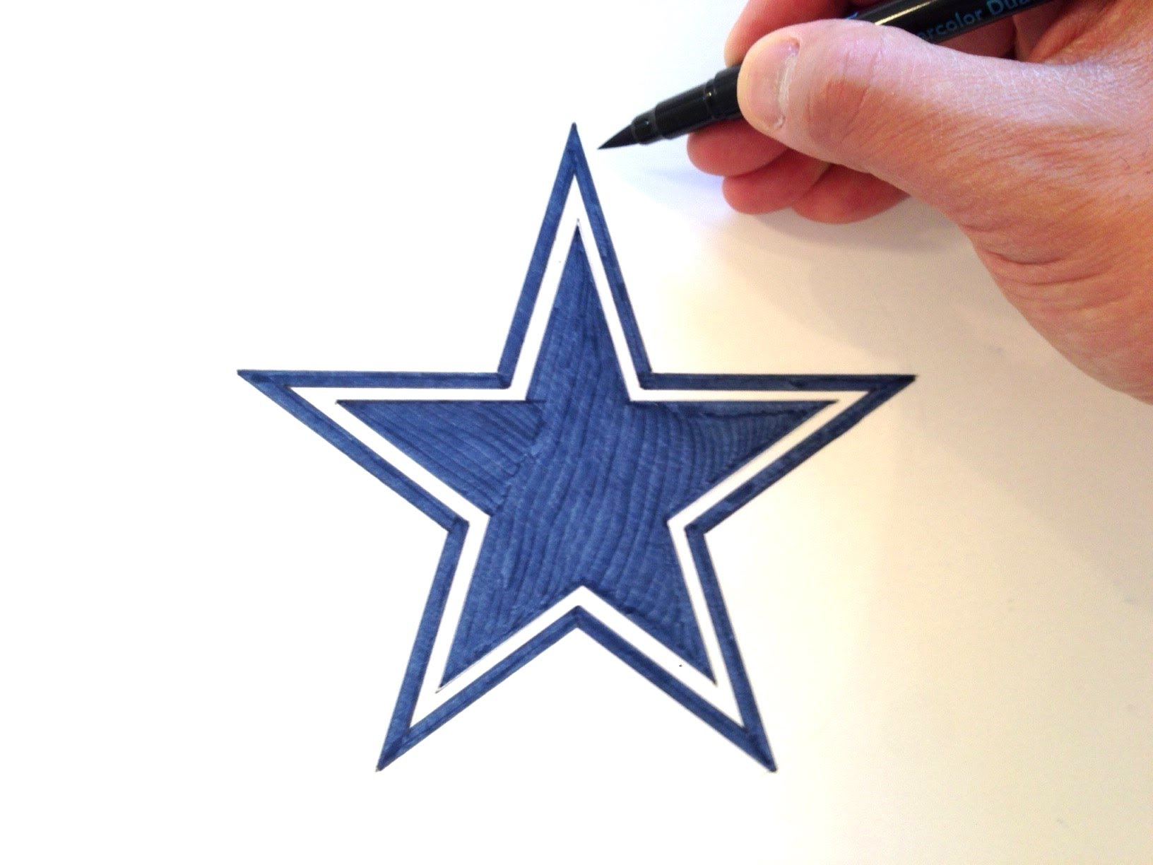 1632x1224 How to Draw the Dallas Cowboys Star Logo
