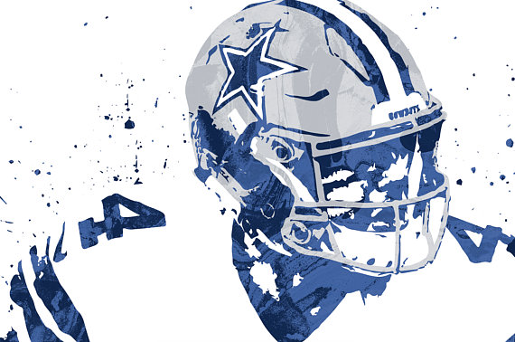 570x378 Dak Prescott Dallas Cowboys Sports Art Print Football Poster
