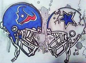 300x219 Dallas Cowboys Drawings Fine Art America