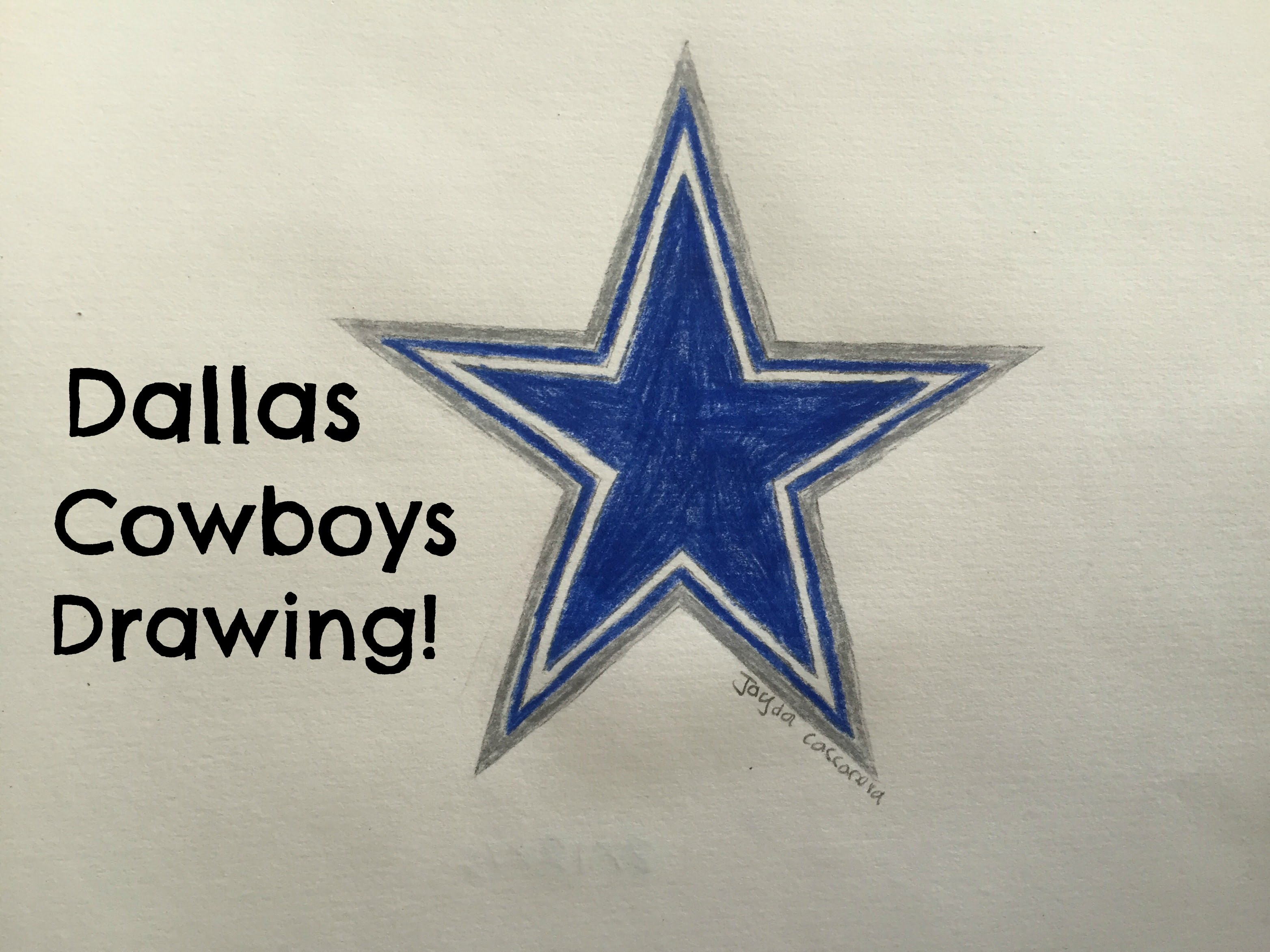 3128x2346 Dallas Cowboys Logo Drawing (Time Lapse)