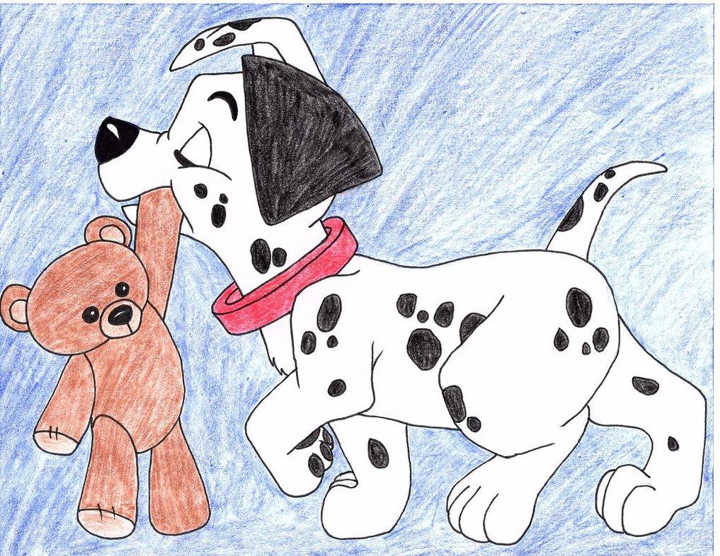 1017x786 101 Dalmatians Puppy Drawing By Julietcapulet432