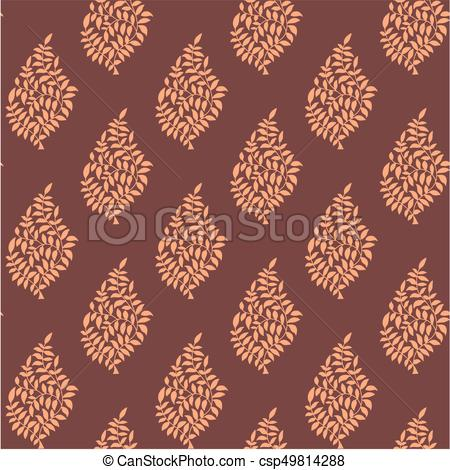 450x470 Damask Pattern With Background Vector