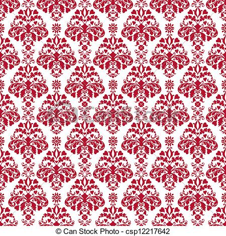 450x470 Seamless White Amp Cherry Red Damask. Cherry Red Hearts