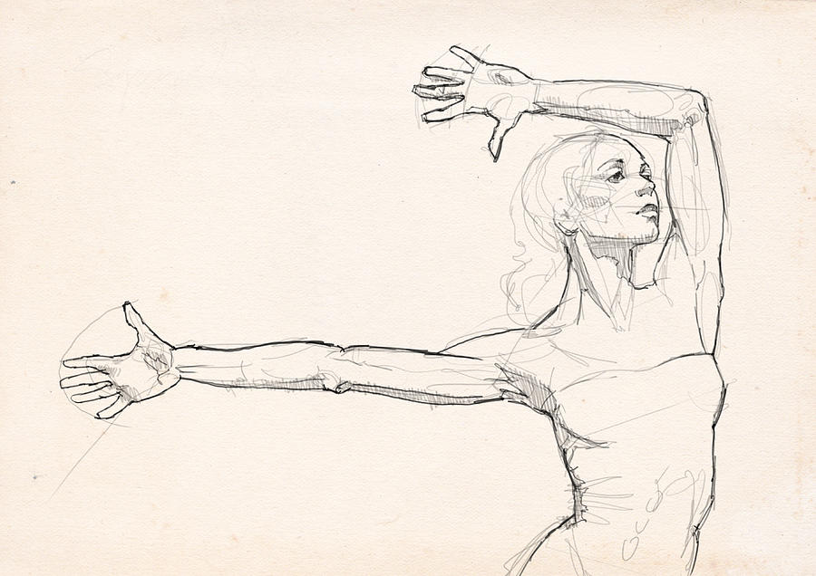 900x636 Dance Anatomy Drawing By H James Hoff