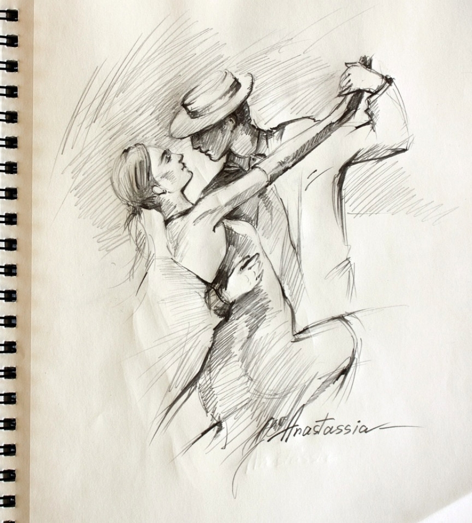 923x1024 Pencil Drawings Of Dancers Top Tango Dancers Drawings Images