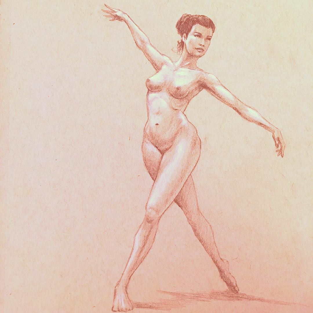 1080x1080 Daily Sketch, Dancing Figure Drawing