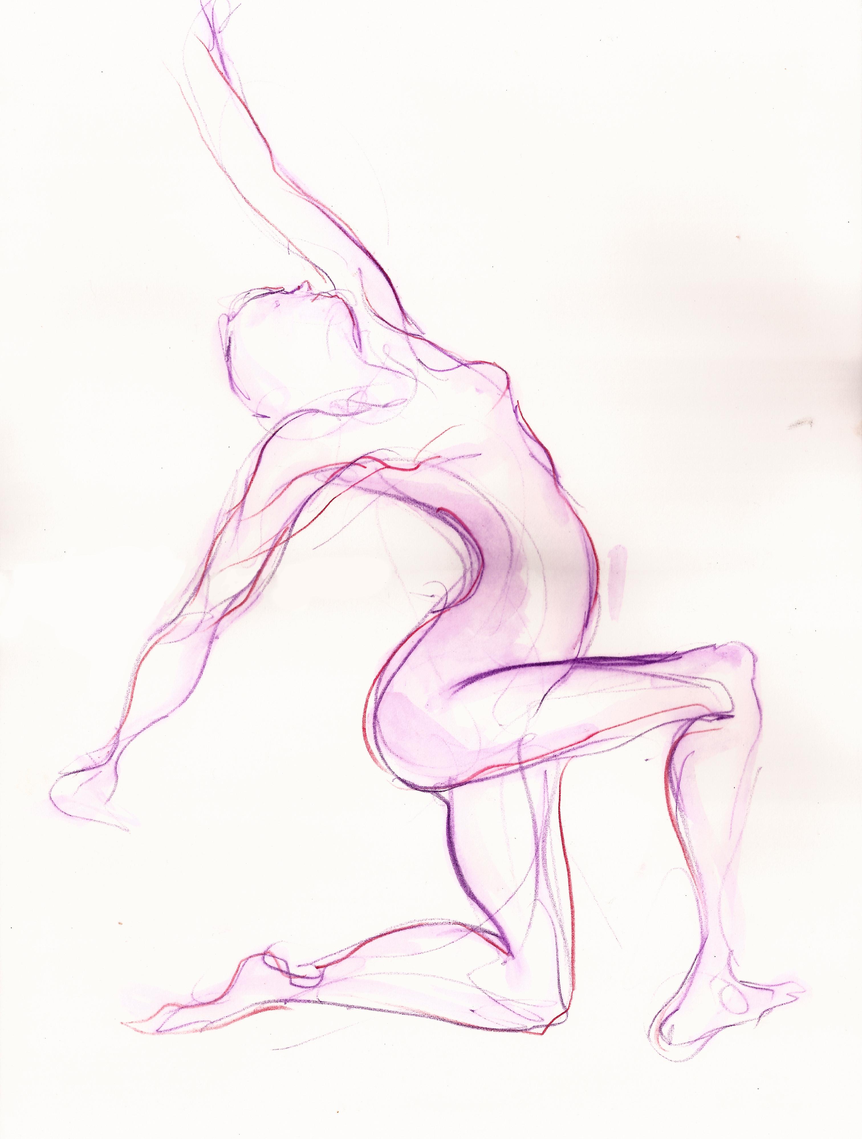 3024x3998 Dancing Figure Drawing