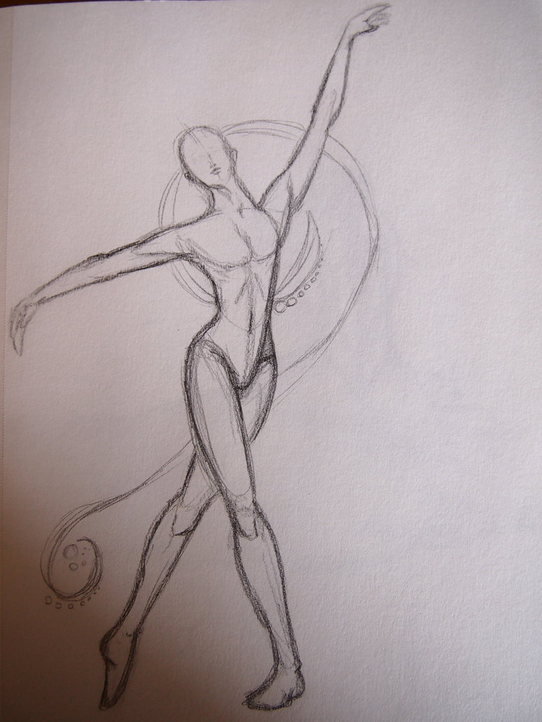 774x1032 Figure Drawing Dancer By Wolfdraw101