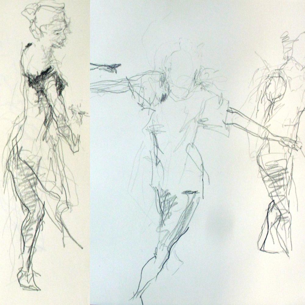 1000x1000 Suspendre Une (Life Drawing Dancedessins Sur Le Vif