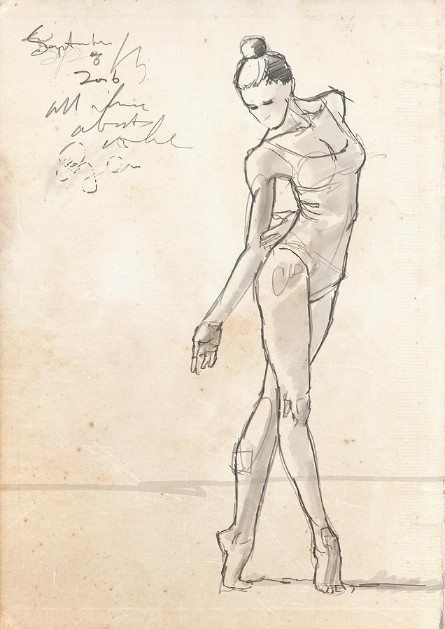 636x900 Dancer Drawing By H James Hoff