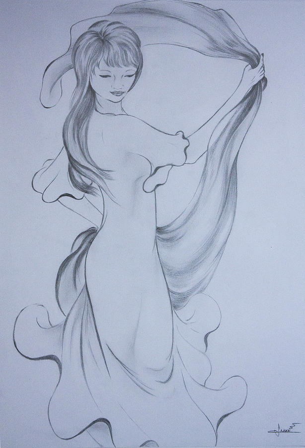614x900 Delicate Dancer Drawing By Cristina Arsene Tickabout