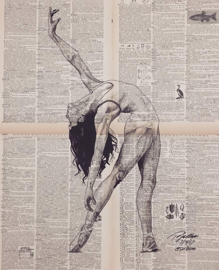 770x949 Saatchi Art Graceful Dancer Drawing By Tom Sullivan
