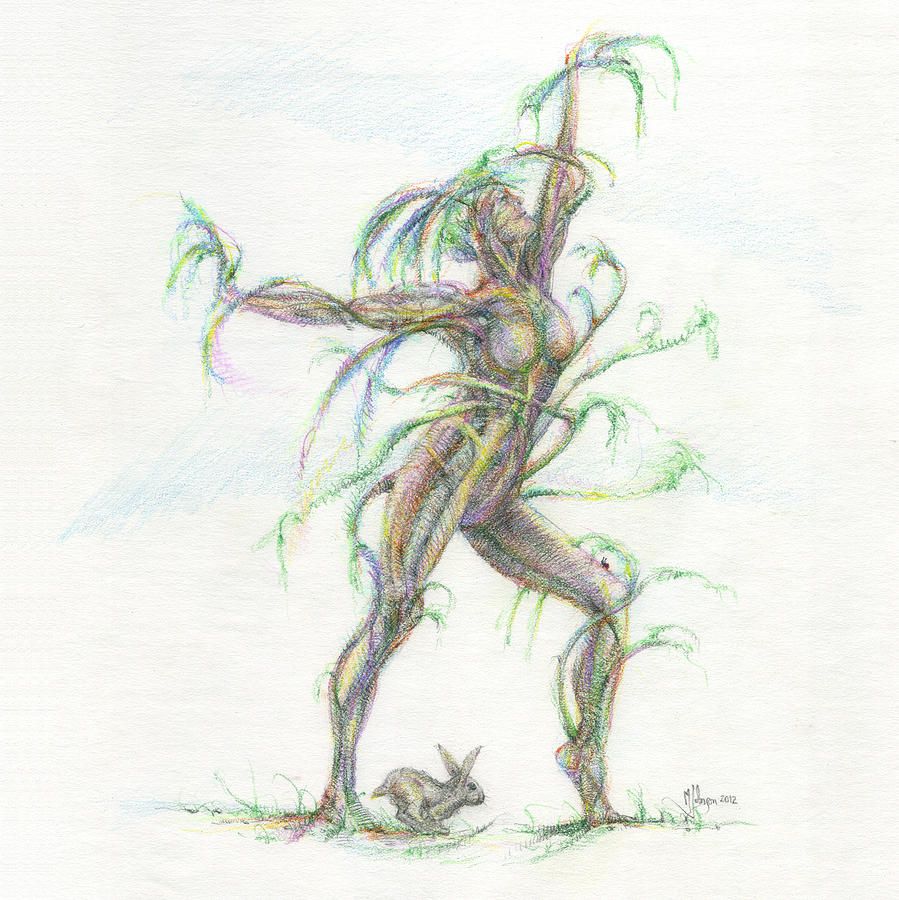 899x900 The Dancer Drawing By Mark Johnson