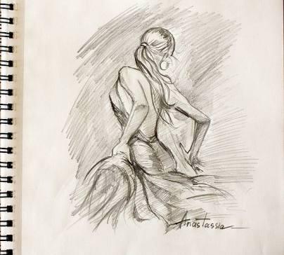 404x364 Pro Draw Flamenco Dancer V Pohybu
