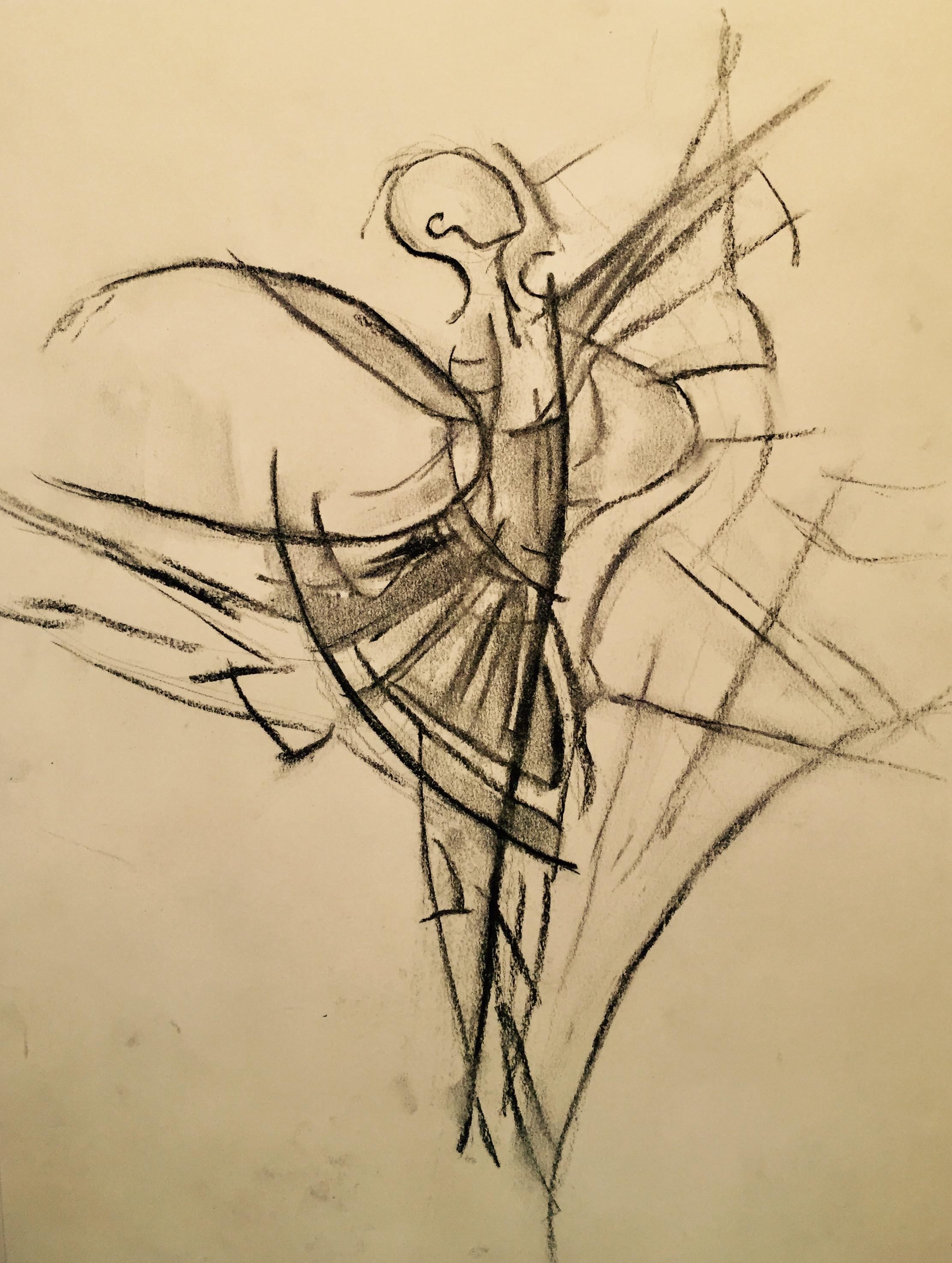 2224x2951 Drawing Of A Dancing Girl