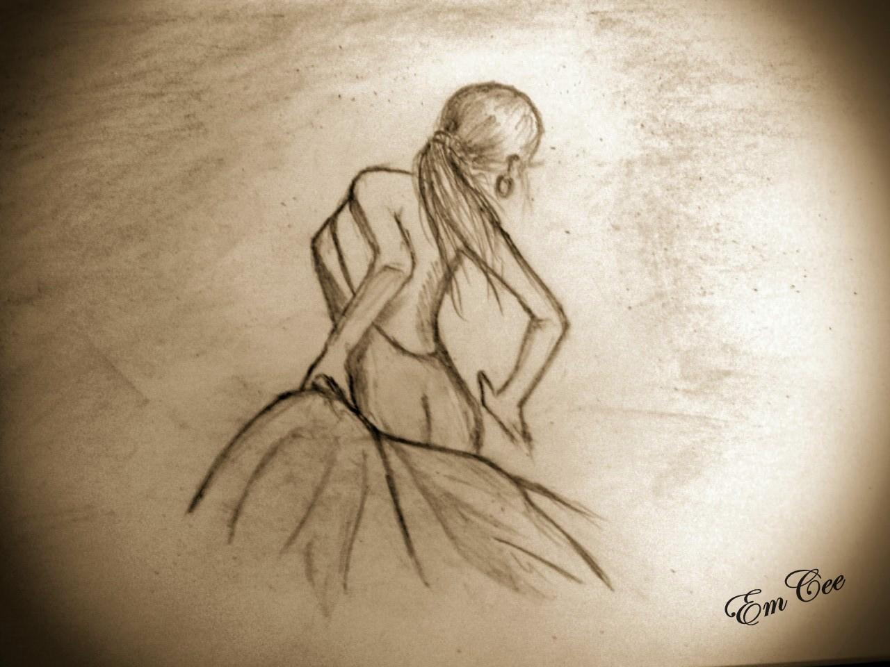 1280x960 Pencil Sketch Of Dancing Girl A Rat's Nibble Enchanted