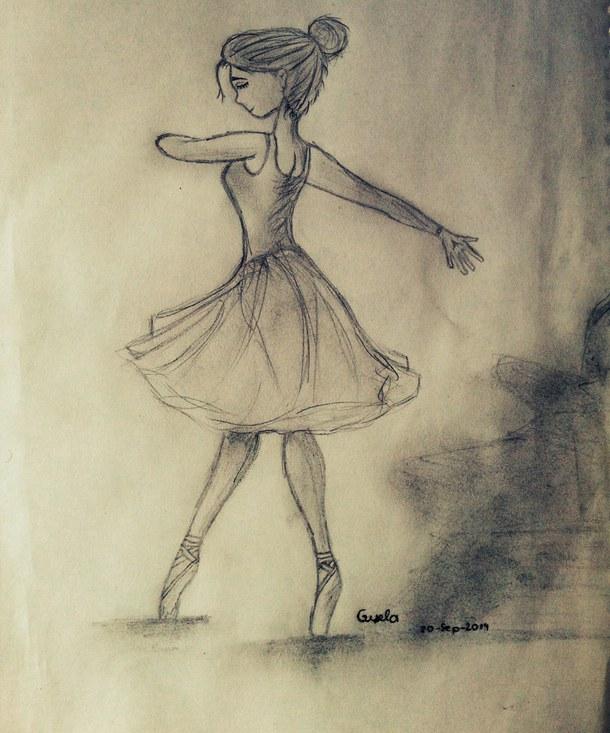 610x733 Ballet, Dance, Draw, Drawing, Girl, Neverstop, Ilovethis