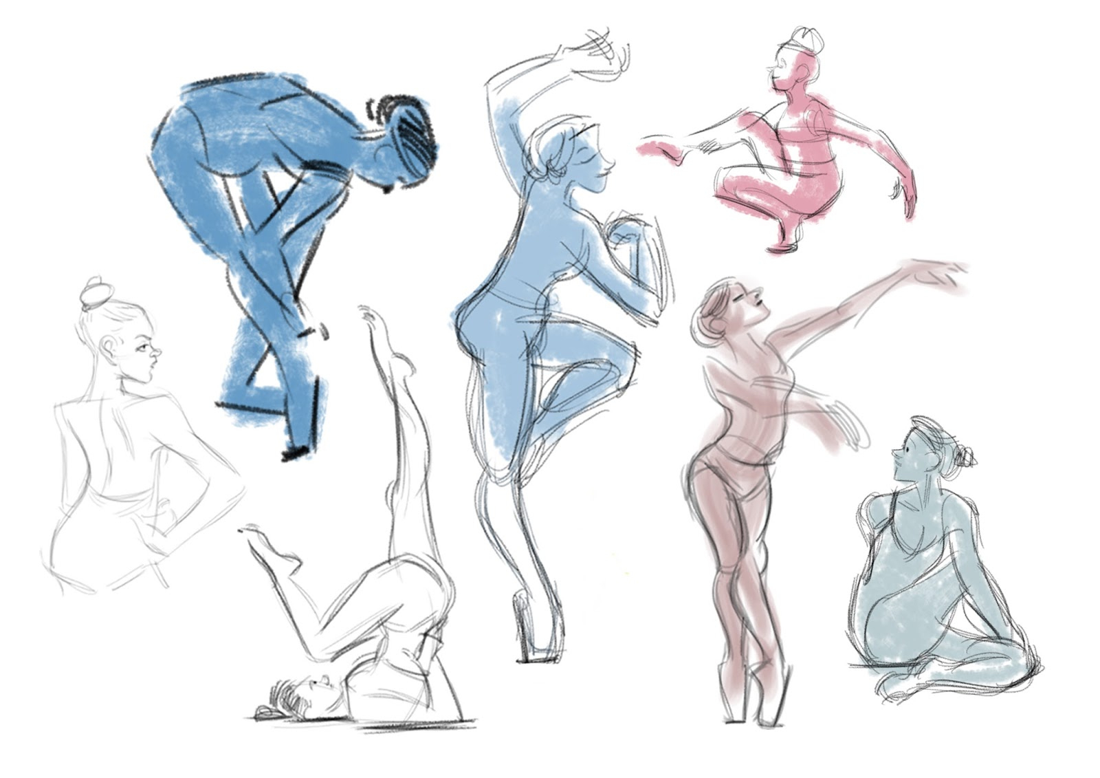 1600x1131 Dancing Poses For Drawing Javier Sempere Gesture Drawing