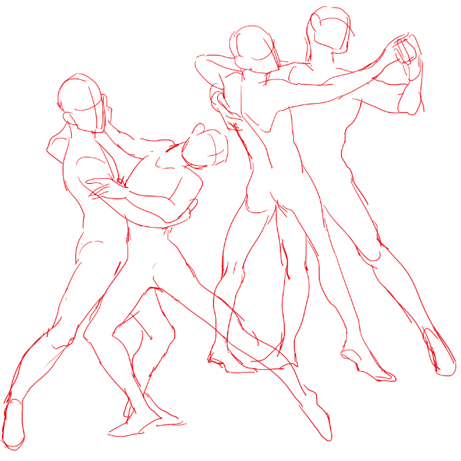 662x662 Couple Poses Drawing Reference