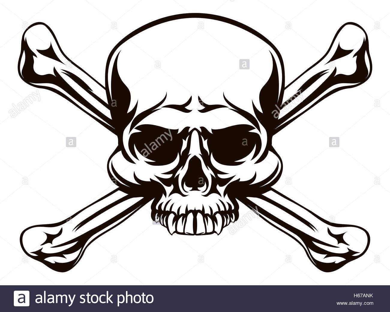 1300x1039 A Skull And Cross Bones Drawing Like A Pirates Jolly Roger