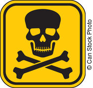 188x179 Vector Skull Danger Sign (Deadly Danger Sign) Vector Illustration