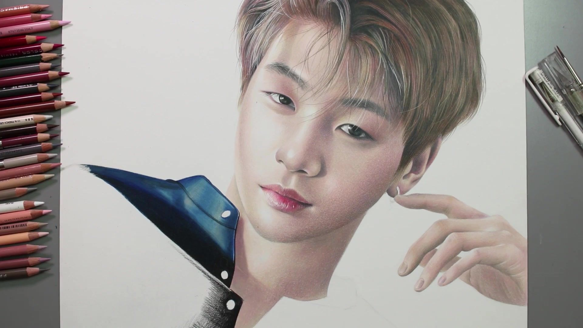 1920x1080 Drawing Hands Episode 45 Speed Drawing Wanna One's Kang Daniel