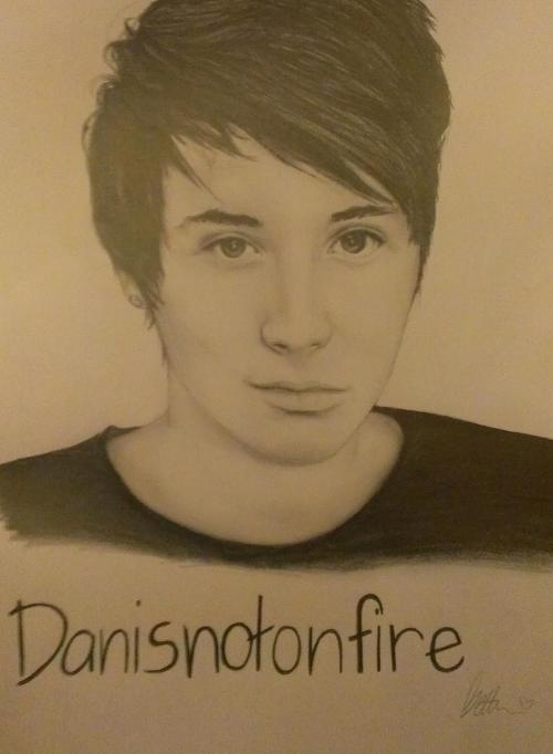 500x682 Amazingphil Danisnotonfire Dan Howell Amazingphil Drawing