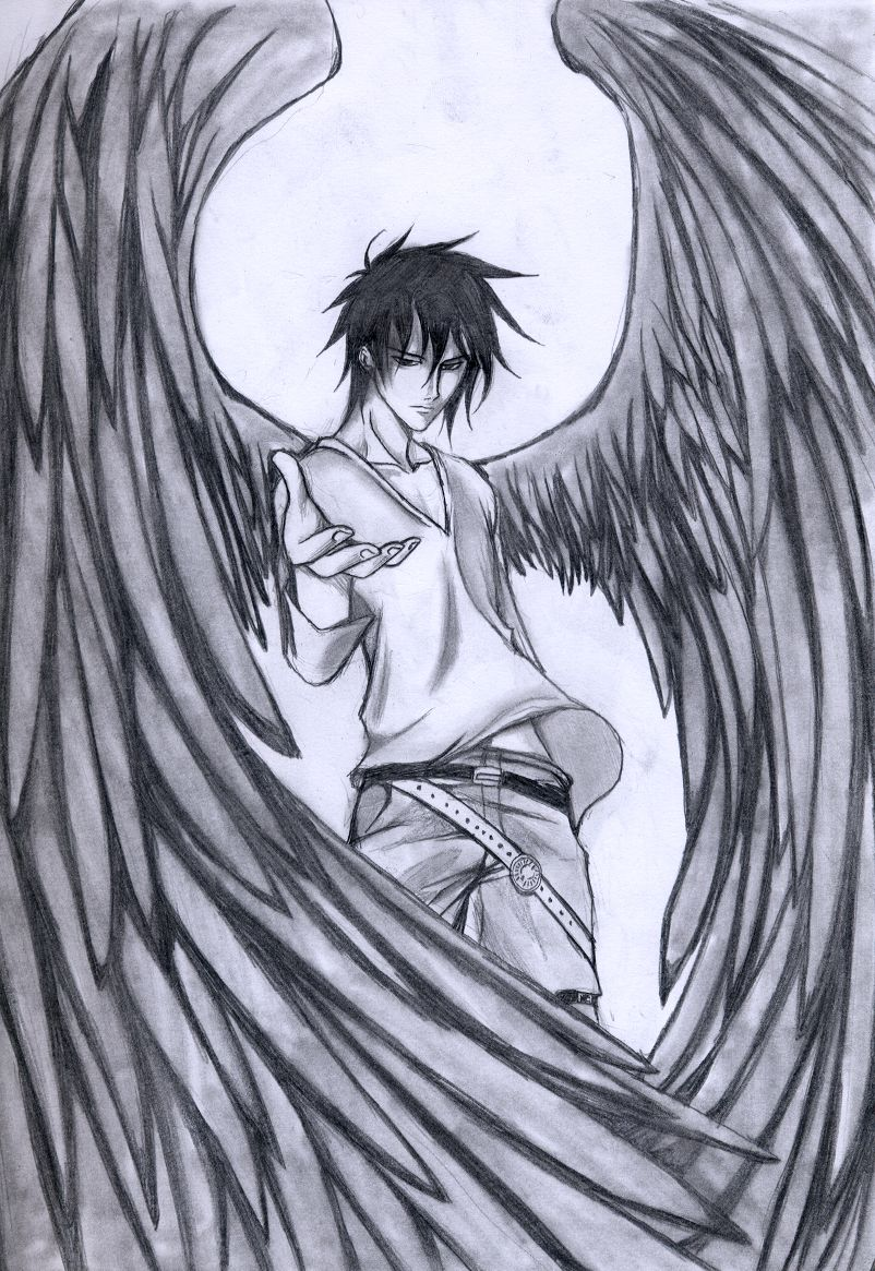 802x1165 Love Epic Dark Angel Drawings. Paper And Pencils