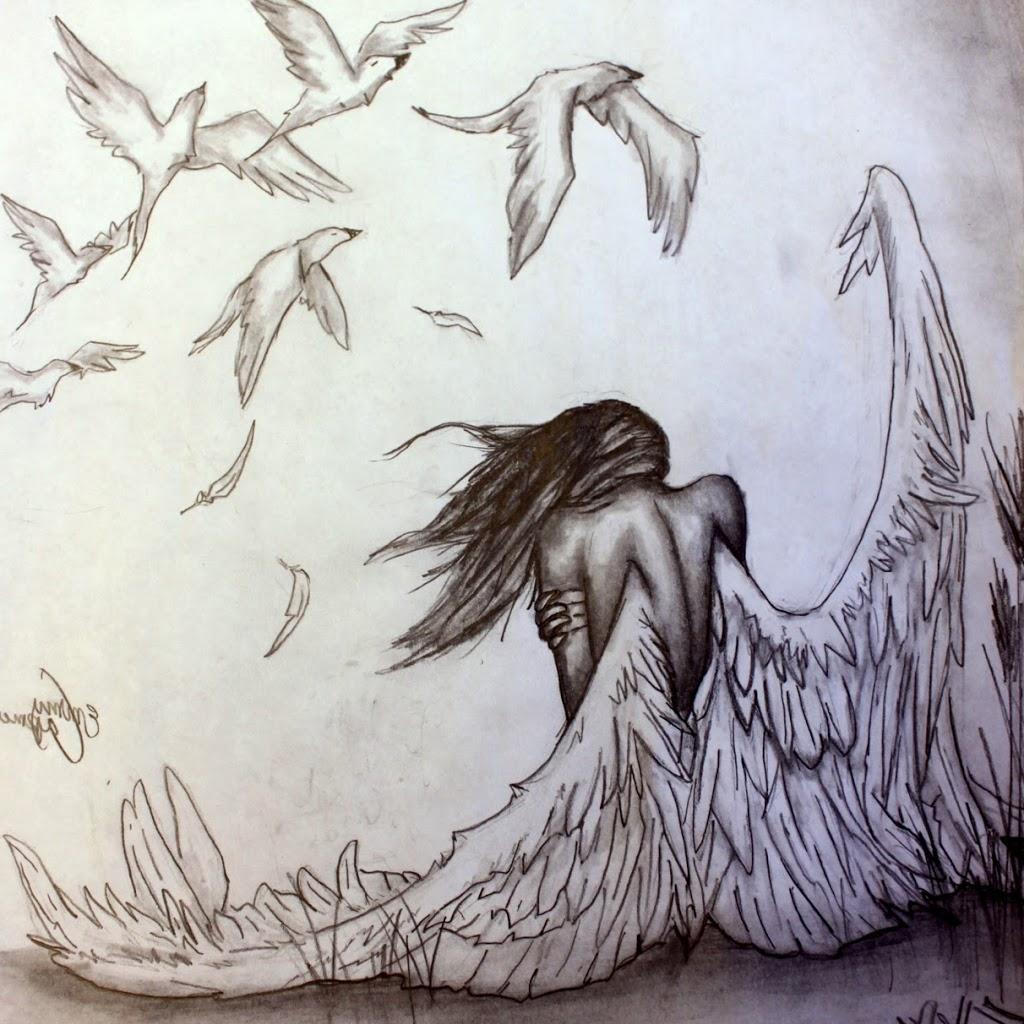 1024x1024 Pencil Sketching Angel Angel Sketches In Pencil Pencil Sketch
