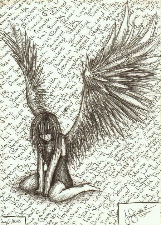 Dark angel drawing at getdrawings free for personal use dark 516x720 she is the fallen angel i see everyday her eyes filled with thecheapjerseys Image collections