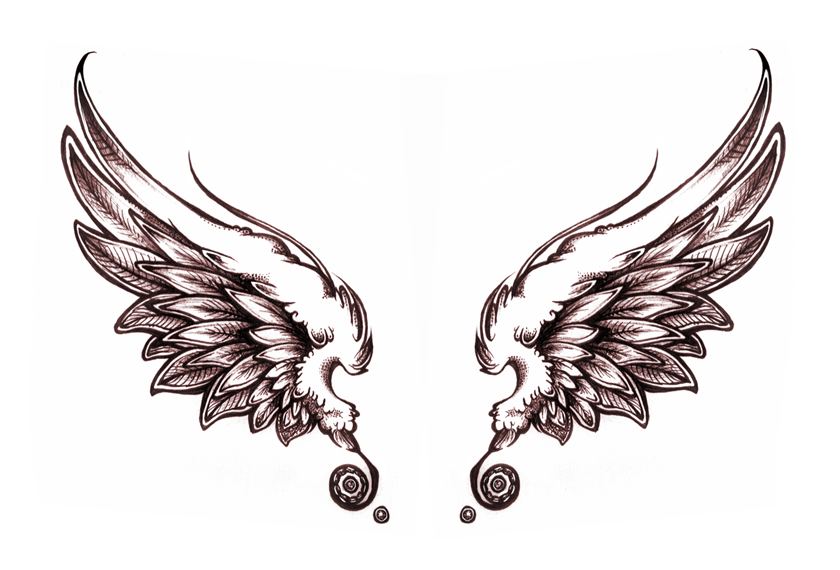 840x570 Download Free Cute Angel Wing Tattoo Designs Use And Take