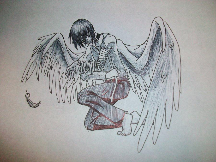 900x675 Fallen Angel Broken Wing By Zalia13