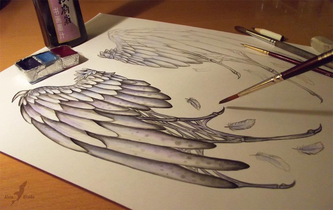 1124x710 Fallen Angel's Wings