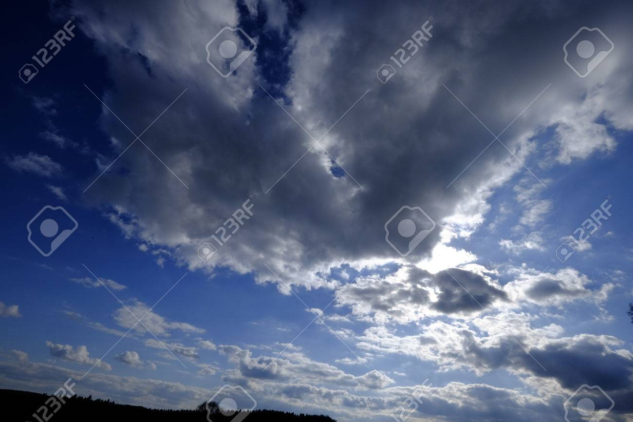 1300x866 Dark Clouds Are Drawing Stock Photo, Picture And Royalty Free