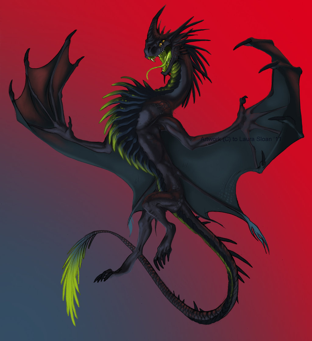 1024x1118 Dark Dragon By Crazy Dragon