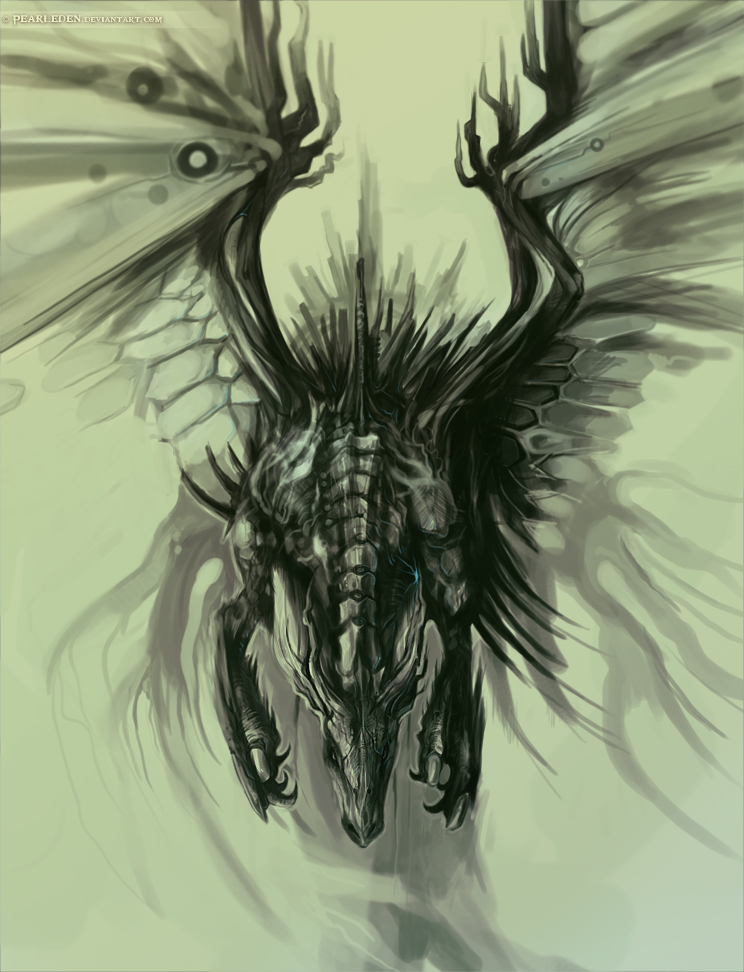 744x972 Dark Dragon By Exileden