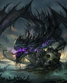 236x291 Fantasy Undead Dragon Art