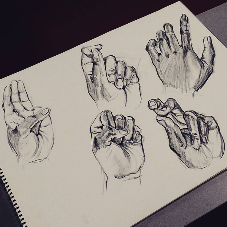 750x750 Drawings Of Hands Quick Sketches Amp Hand Studies