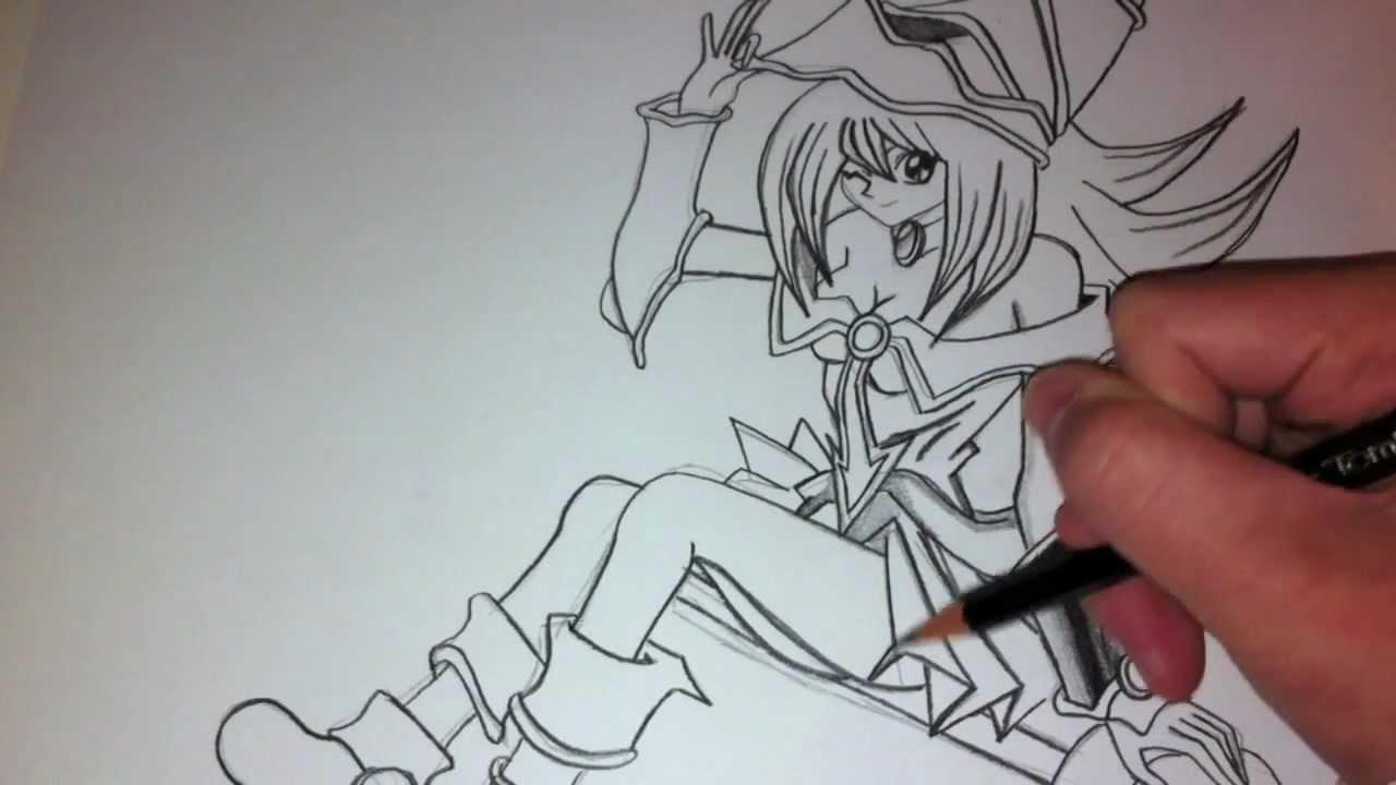 1280x720 Drawing And Coloring Dark Magician Girl