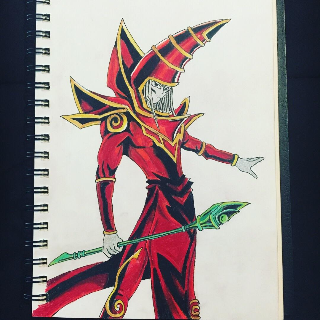 1080x1080 Drawing Of Dark Magician For Day 50 Of Draw Everyday. Yugioh