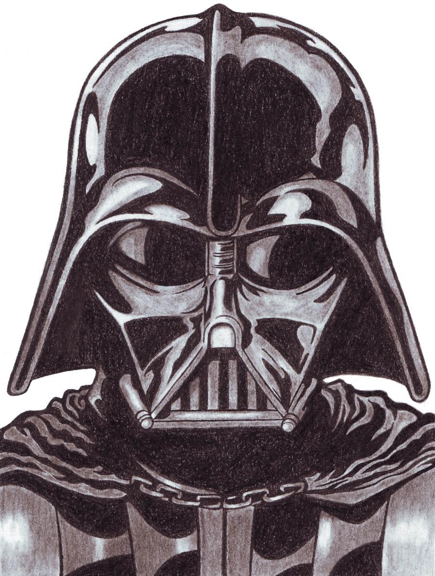 894x1183 Darth Vader (Charcoal Pencils) Pencilpen Art