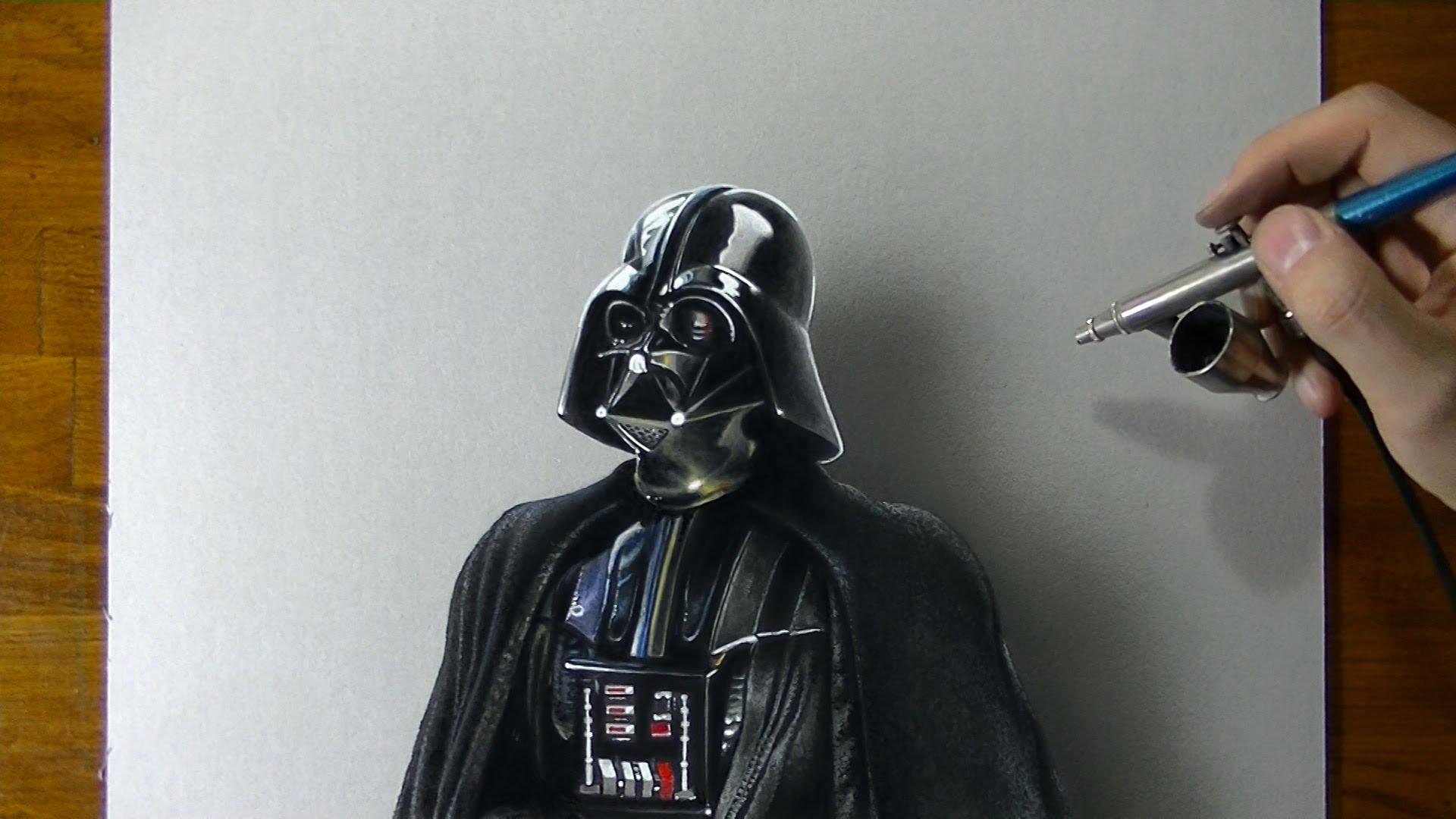 1920x1080 Darth Vader Star Wars Drawing