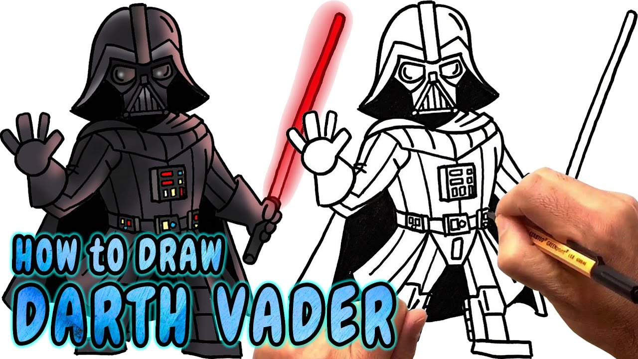 1280x720 How To Draw Darth Vader