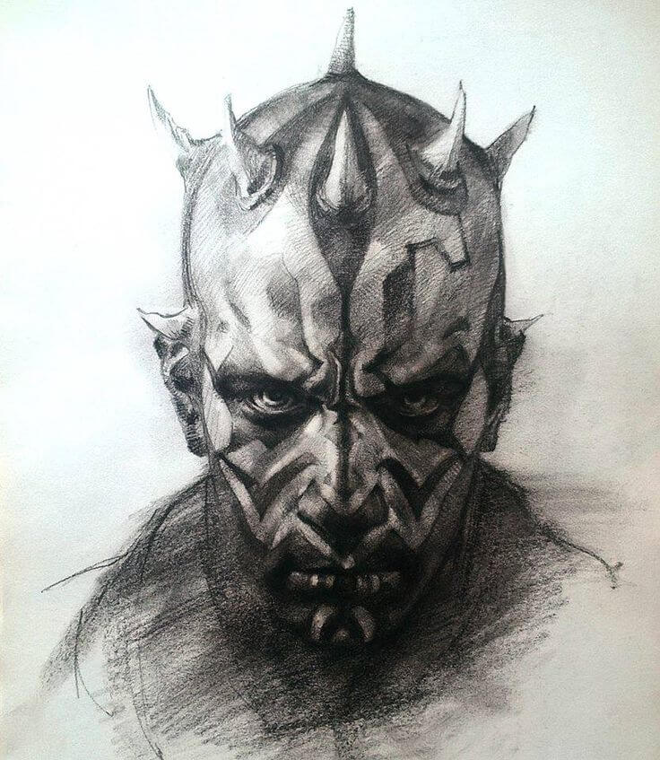 736x847 Amazing Darth Maul Drawing By Elia Bonetti 8 Bit Nerds