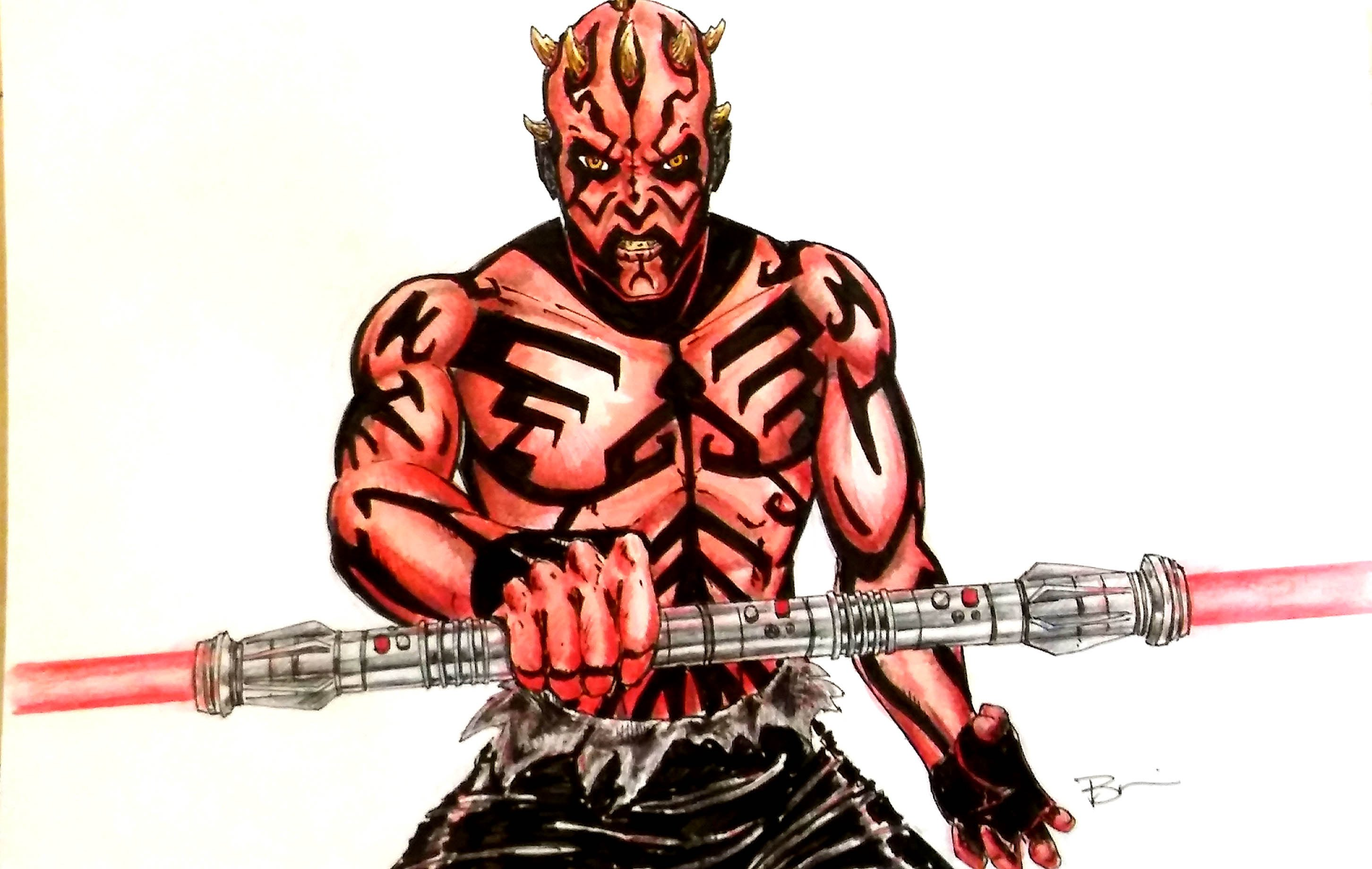 2904x1840 Darth Maul Speed Drawing