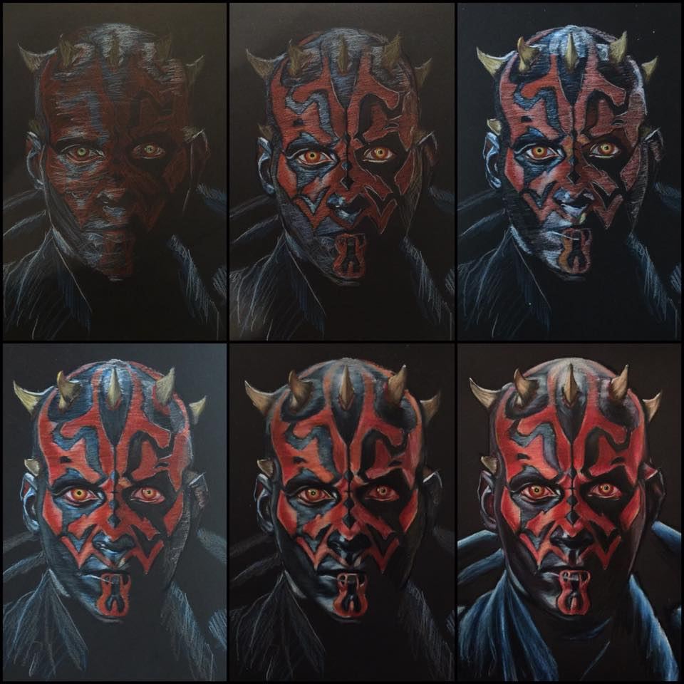 960x960 Darth Maul Color Pencil Drawing.