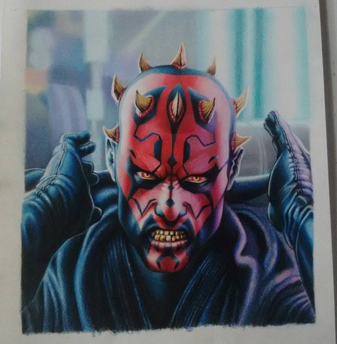 1080x1104 Darth Maul Drawing By Freire