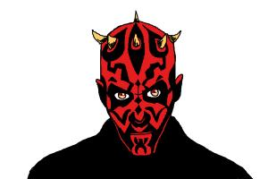 300x200 How To Draw Darth Maul