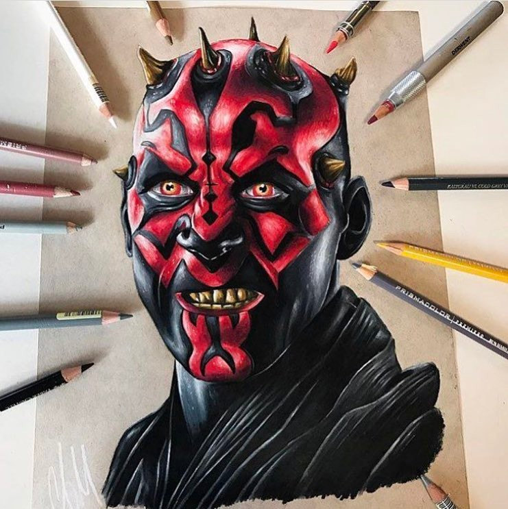 741x743 Maul Drawing By Adam Milton