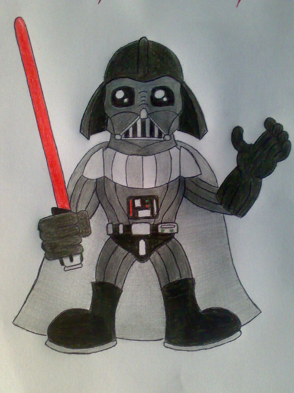 600x800 Darth Vader Cartoon By Sandra12345